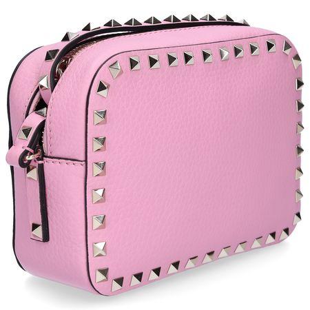 Valentino  Handtasche Crossbody Bag ROCKSTUD klein Kalbsleder Nieten gold Logo rosa rosa