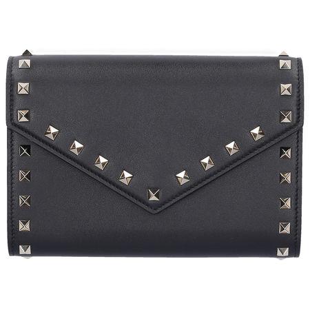Valentino  Handtasche WALLET ON Kalbsleder Nieten gold schwarz grau