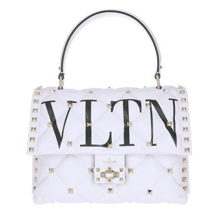 Valentino  Satchel Bag  -  Candy Stud Handbag Leather OVP  - in weiß  -  Satchel Bag für Damen lila