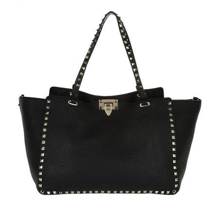Valentino  Shopper  -  Rockstud Shopping Bag Nero  - in schwarz  -  Shopper für Damen schwarz