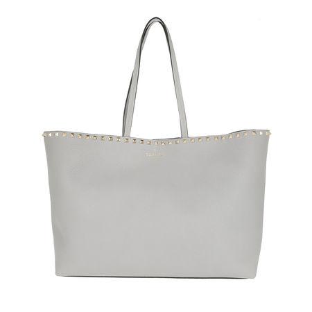 Valentino  Shopper  -  Rockstud Studded Shopping Bag Pastel Grey  - in grau  -  Shopper für Damen grau