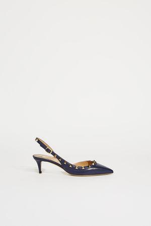Valentino  - Slingback mit Nietendetails Blau