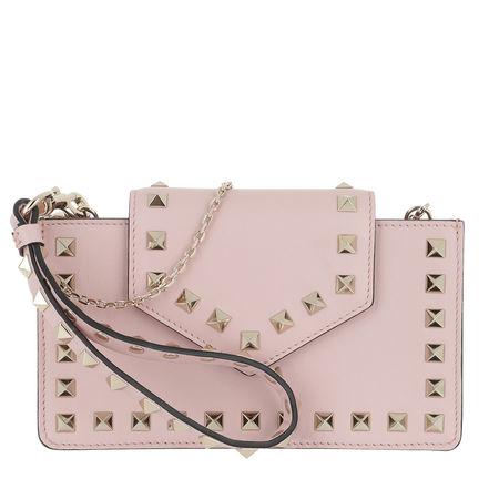 Valentino  Smartphone Case  -  Rockstud Smartphone Case Leather Water Rose  - in rosa  -  Smartphone Case für Damen braun