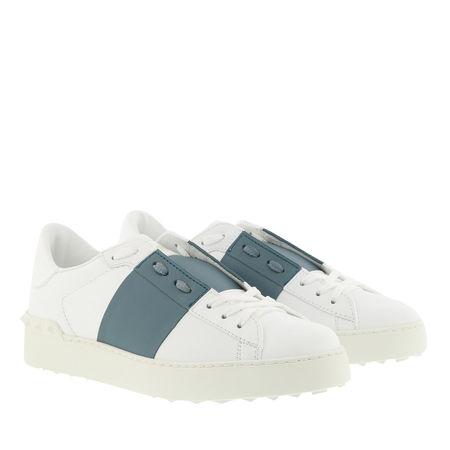 Valentino  Sneakers  -  Open Sneakers Calfskin Bianco Amadeus  - in weiß  -  Sneakers für Damen grau
