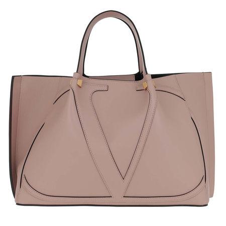 Valentino  Tote  -  Big V Bag Leather Cinnamon  - in rosa  -  Tote für Damen braun