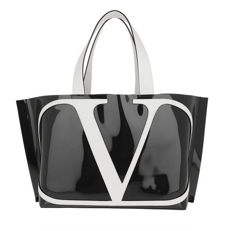 Valentino  Tote  -  Logo Tote Bag PVC Black  - in schwarz  -  Tote für Damen grau