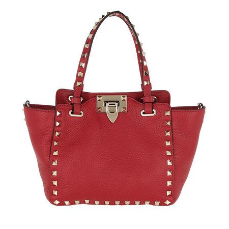Valentino  Tote  -  Mini Rockstud Tote Rosso  - in rot  -  Tote für Damen rot