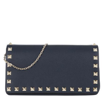 Valentino  Umhängetasche  -  Crossbody Bag Leather Pure Blue  - in blau  -  Umhängetasche für Damen grau