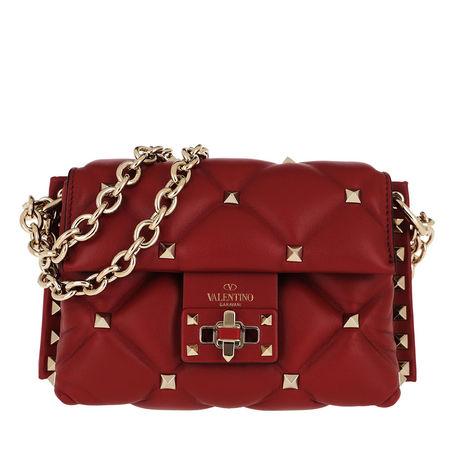 Valentino  Umhängetasche  -  Mini Shoulder Bag Leather Red  - in rot  -  Umhängetasche für Damen rot