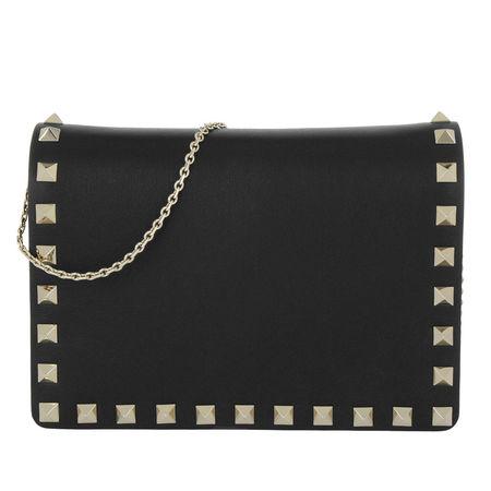 Valentino  Umhängetasche  -  Rockstud Chain Crossbody Bag Nero  - in schwarz  -  Umhängetasche für Damen schwarz