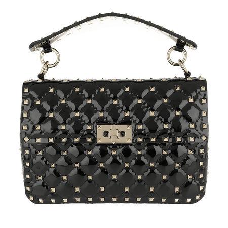 Valentino  Umhängetasche  -  Rockstud Crossbody Bag 2 Leather Nero  - in schwarz  -  Umhängetasche für Damen grau