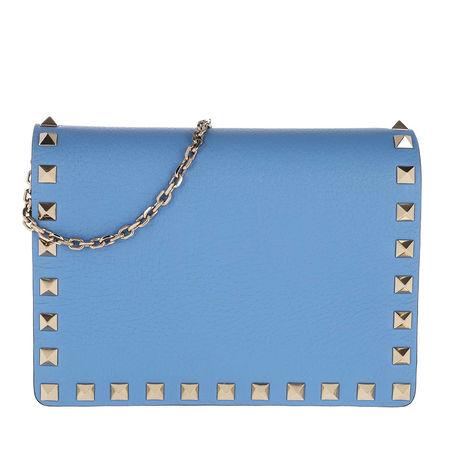 Valentino  Umhängetasche  -  Rockstud Crossbody Bag Blush Angel Blue  - in blau  -  Umhängetasche für Damen blau