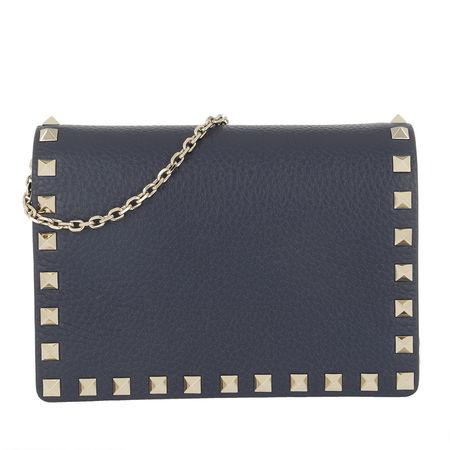 Valentino  Umhängetasche  -  Rockstud Crossbody Bag Blush Pure Blue  - in blau  -  Umhängetasche für Damen grau