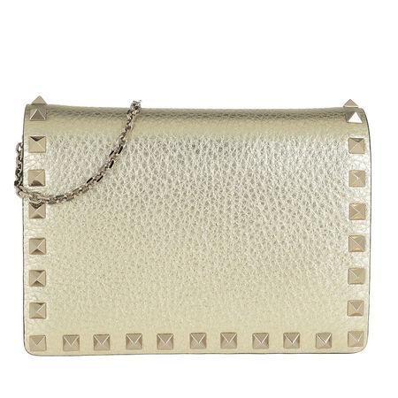 Valentino  Umhängetasche  -  Rockstud Crossbody Bag Gold  - in gold  -  Umhängetasche für Damen braun