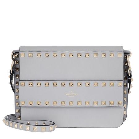 Valentino  Umhängetasche  -  Rockstud Crossbody Bag Small Pastel Grey  - in grau  -  Umhängetasche für Damen grau