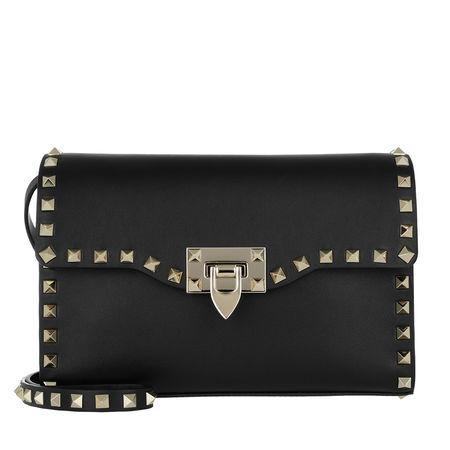 Valentino  Umhängetasche  -  Rockstud Small Crossbody Bag Black  - in schwarz  -  Umhängetasche für Damen schwarz