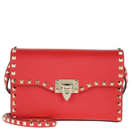 Valentino  Umhängetasche  -  Rockstud Small Crossbody Bag Red  - in rot  -  Umhängetasche für Damen rot