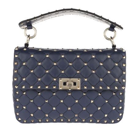 Valentino  Umhängetasche  -  Rockstud Spike Crossbody Bag Pure Blue  - in blau  -  Umhängetasche für Damen grau