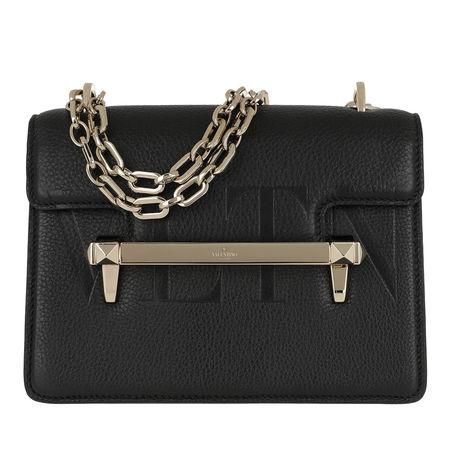 Valentino  Umhängetasche  -  Rockstud Uptown Bag Black  - in schwarz  -  Umhängetasche für Damen schwarz