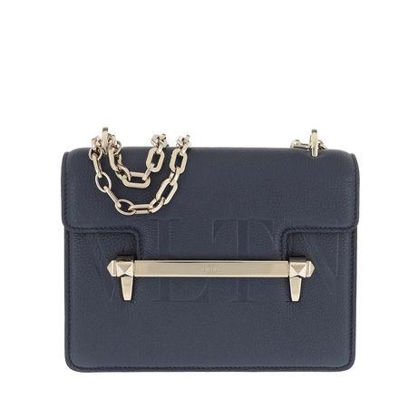 Valentino  Umhängetasche  -  Rockstud Uptown Bag Pure Blue  - in marine  -  Umhängetasche für Damen grau