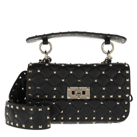 Valentino  Umhängetasche  -  Spike Shoulder Bag Small Black  - in schwarz  -  Umhängetasche für Damen schwarz