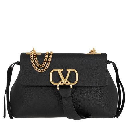 Valentino  Umhängetasche  -  V Crossbody Bag Leather Black  - in schwarz  -  Umhängetasche für Damen schwarz