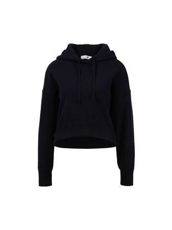 Valentino  - Woll-Cashmere-Hoodie mit Logo-Stickerei Dunkelblau schwarz