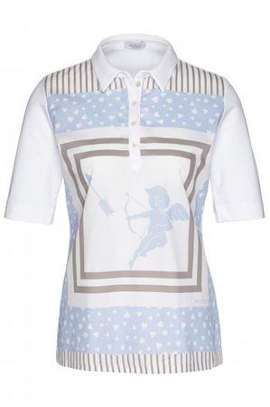 van Laack  Jersey Bluse JOJAH-FPX in weiß grau