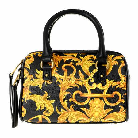 Versace  Jeans Couture Satchel Bag - Baroque Bowling Crossbody Bag Small - in schwarz - für Damen schwarz