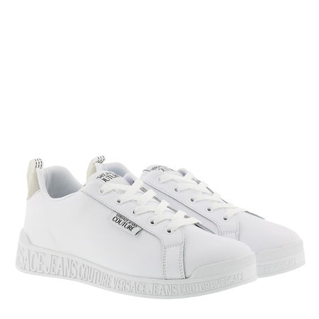 Versace  Jeans Couture Sneakers  -  Leather Suede Low Sneakers White  - in weiß  -  Sneakers für Damen grau