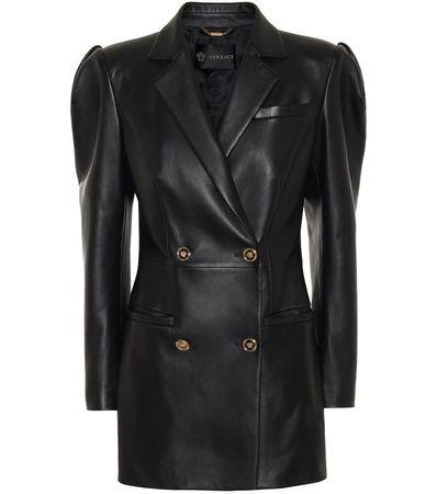 Versace Minikleid aus Leder schwarz