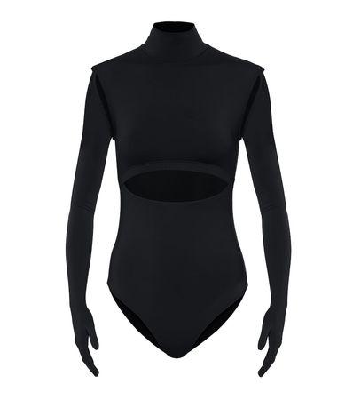 Vetements Body aus Jersey schwarz