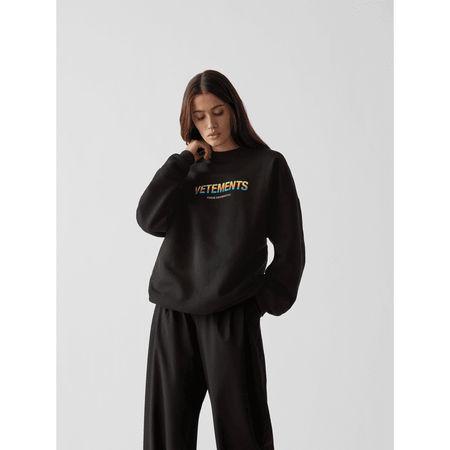 Vetements Unisex Sweatshirt mit Schriftzug