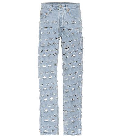 Vetements X Levi's® Distressed Jeans grau