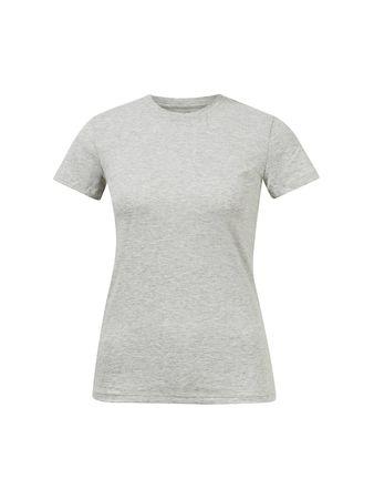 Vince  - Baumwoll T-Shirt mit Rundhalsausschnitt Grau grau