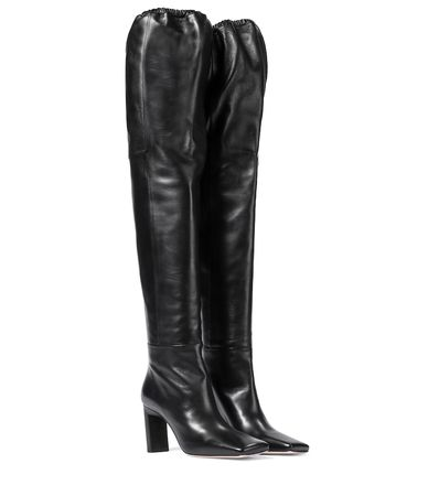 Wandler Exklusiv bei Mytheresa – Overknee-Stiefel Anne aus Leder schwarz