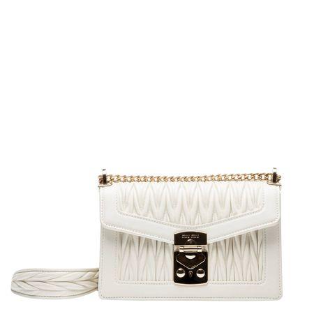 Miu Miu ® - Handtasche aus Leder in Wollweiß/Weiß für Damen, Größe UNI braun