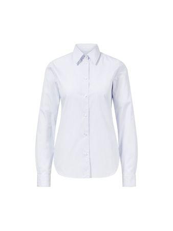 Essentiel Boyfriend-Blazer in Dunkelblau/Weiß grau