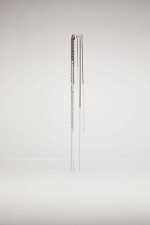 Acne Studios  FN-UX-JEWE000110 Antiksilber/Weiß  Ohrring mit Kettengliedern grau