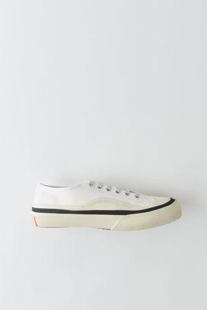Acne Studios  BK-MN-SHOE000007 Weiß/Weiß Sneakers aus Canvas braun