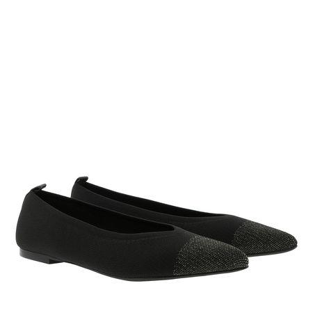 What For  Ballerinas  -  Janice Ballerina Gold Black  - in schwarz  -  Ballerinas für Damen