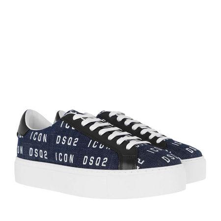Dsquared2  Sneakers  -  New Icon Tennis Sneakers Denim/White  - in blau  -  Sneakers für Damen grau