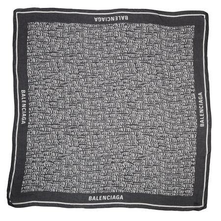 Balenciaga  Accessoire  -  Logo Patterned Scarf Black/White  - in schwarz  -  Accessoire für Damen grau