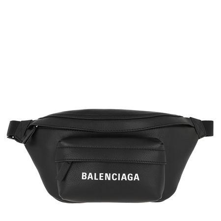 Balenciaga  Gürteltasche  -  Everyday XS Belt Bag Leather Black/White  - in schwarz  -  Gürteltasche für Damen grau