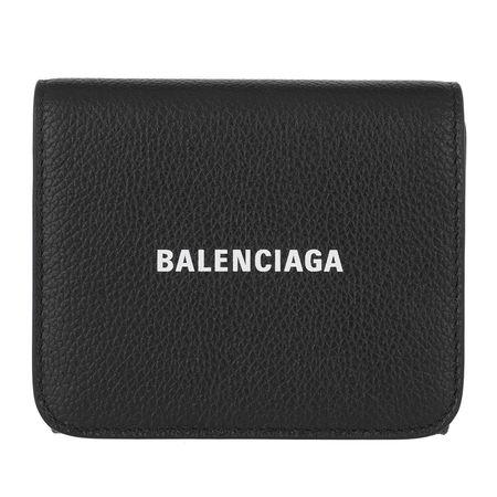 Balenciaga  Portemonnaie  -  Wallet Leather Black/White  - in schwarz  -  Portemonnaie für Damen grau