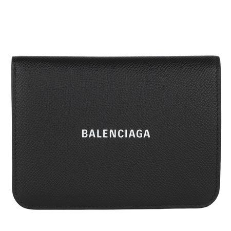 Balenciaga  Portemonnaie  -  BB Wallet Medium Black/White  - in schwarz  -  Portemonnaie für Damen grau