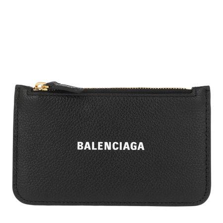 Balenciaga  Portemonnaie  -  Zip Coin Wallet Leather Black/White  - in schwarz  -  Portemonnaie für Damen grau