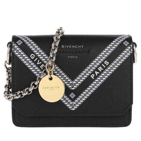 Givenchy  Portemonnaie  -  Winged Card Case Black/White  - in schwarz  -  Portemonnaie für Damen schwarz