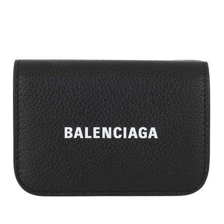 Balenciaga  Portemonnaie  -  Cash Mini Wallet Black/White  - in schwarz  -  Portemonnaie für Damen schwarz
