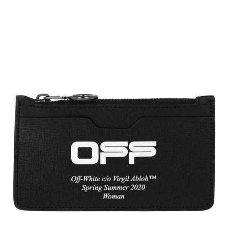 OFF-WHITE  Portemonnaie  -  Card Wallet Black/White  - in schwarz  -  Portemonnaie für Damen schwarz
